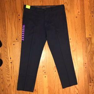 NWT HAGGAR PERFORMANCE STRETCH DRESS PANTS 40X32
